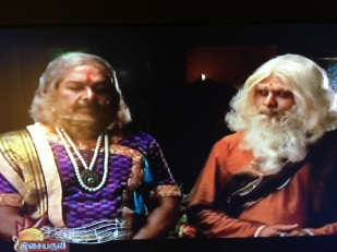 If you look quickly, the one on the right looks like Dr. Zaius from Planet of the Apes