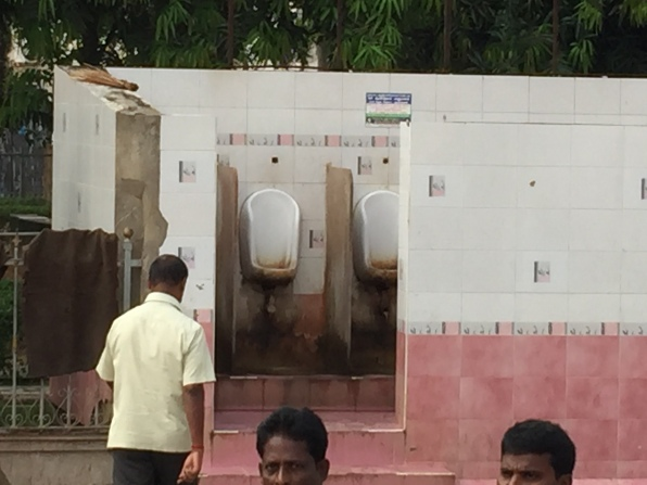 The men's toilets at the entrance.