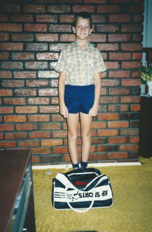 First day of school, circa. 1985