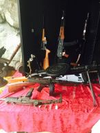 There are assorted guns for sale everywhere