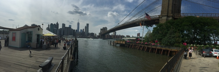 Panoramic view from Dumbo, Brooklyn