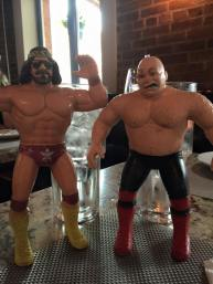 "The late ""Macho Man"" Randy Savage and George ""The Animal"" Steel figures that possibly landed me an awesome job."