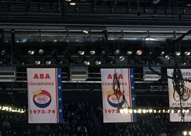 New York Nets ABA championship banners
