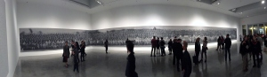 A panoramic shot of the 122' ash painting.