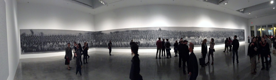 A panoramic shot of the 122' ash painting