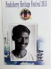 An artist in Pondicherry, India