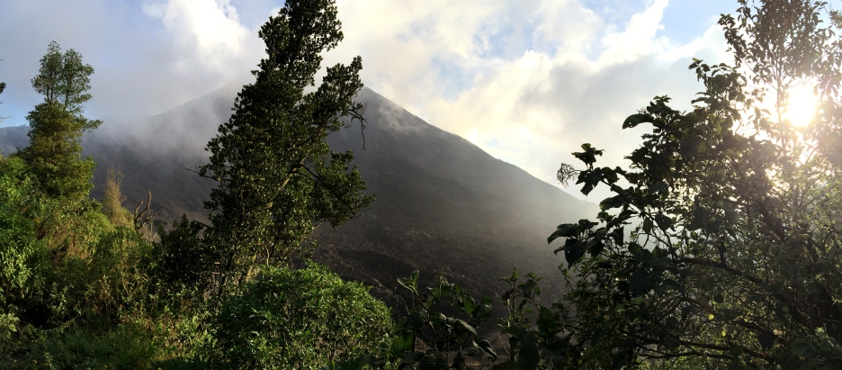Our closest glimpse of the volcano so far