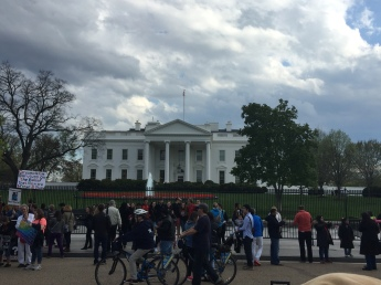 At any given time there are people protesting something in front of the White House. On this occasion it was circumcision