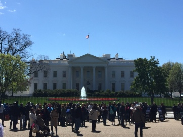 The White House on our way to the Smithsonian with different protestors this time