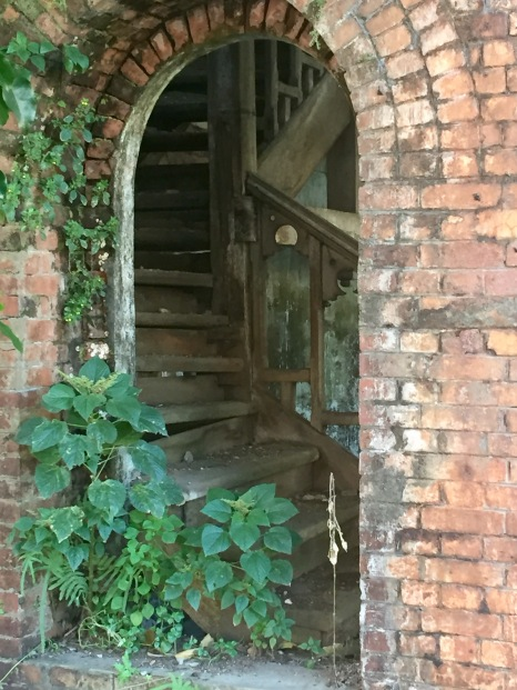 Looking into an old stairwell
