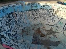 An old skate park at Parque Garota de Ipanema