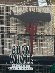 This restaurant looked like it had some decent stuff, but no whale meat.