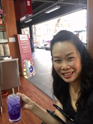 Anna's bizarre purple drink