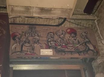 A mural in the shisha bar