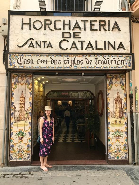 The entrance to Horchateria Santa Catalina
