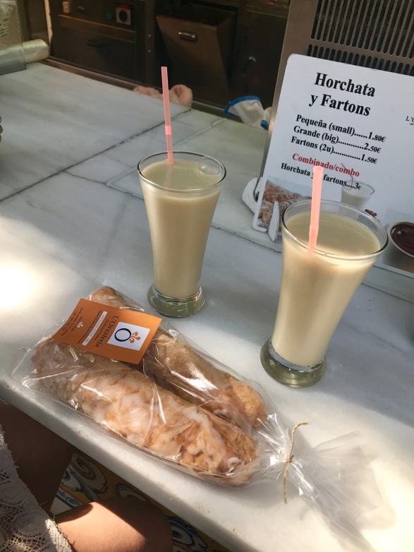 Fartons and horchata