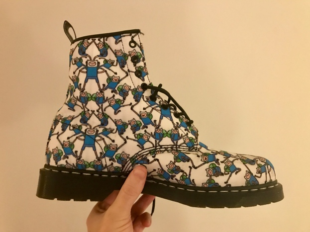 """The dress-code said """"cocktail"""" so I guess that means I can bust out the 'Adventure Time' docs!"""