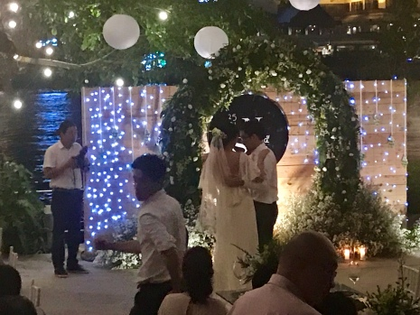 I thought I got a photo of Noelle and Sredej's first dance, but it's actually Noelle's brother again