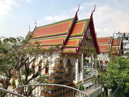 Walking past a wat on the way to lunch