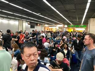 The crowd behind us at gate 5