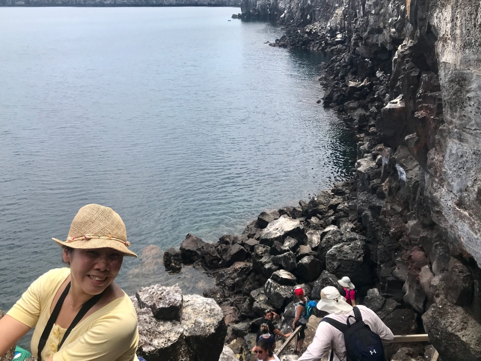 Anna descending Prince Philip's Steps
