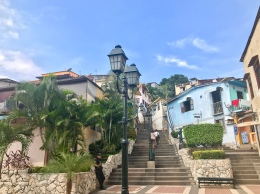 This area of town was stunning, but it was also a workout!